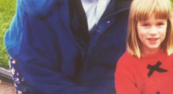 Kathryn posta foto de Elizabeth criança