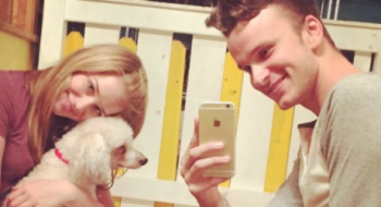 Will Rives posta nova foto com Elizabeth